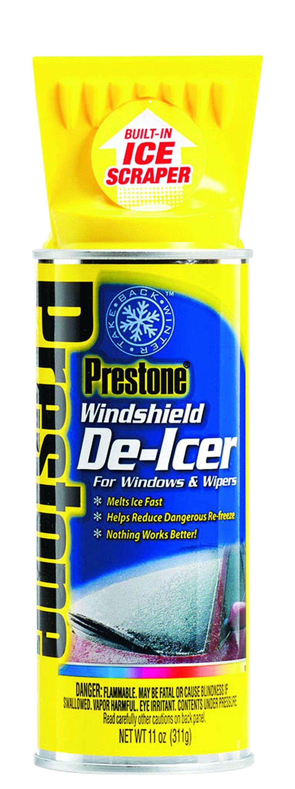 Prestone AS242-6PK Windshield De-Icer - 11 oz. Aerosol, (Pack of 6) by Prestone