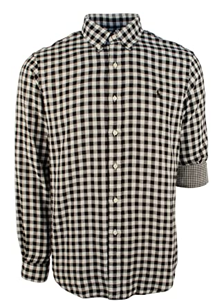 c51f7573b Amazon.com: Polo Ralph Lauren Mens Checkered Gingham Button-Down ...