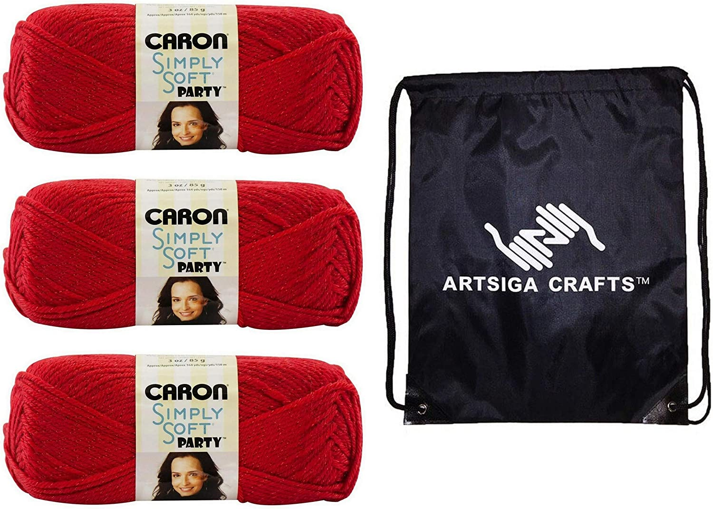 Caron Simply Soft Party Yarn-Snow Sparkle H97PAR-1