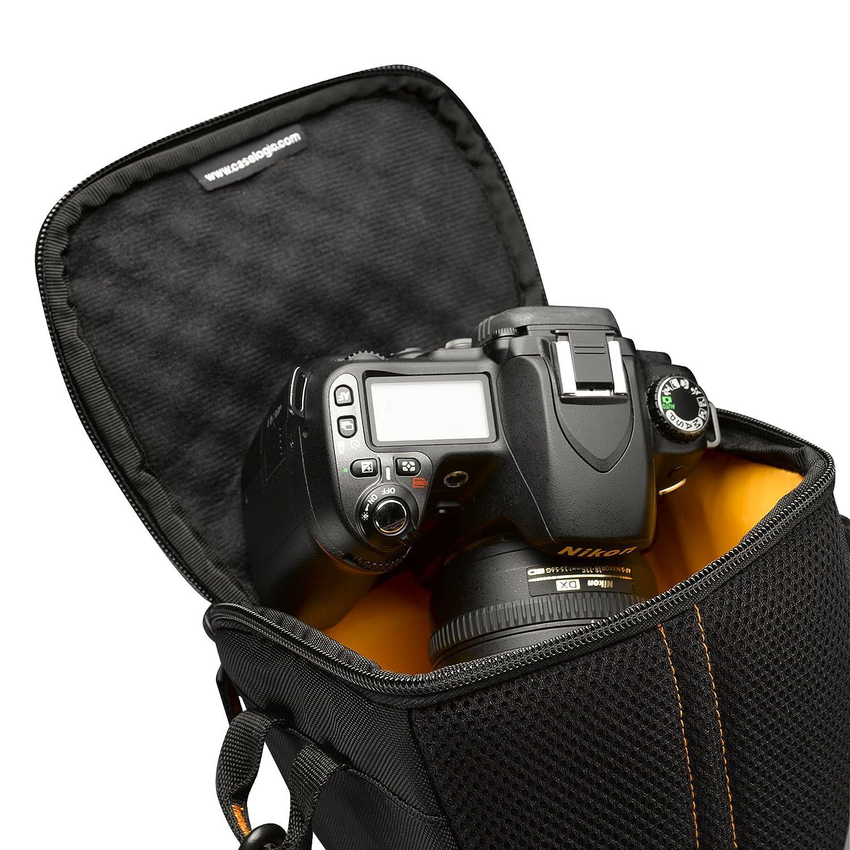 Case Logic SLRC200 Housse semi-rigide pour appareil photo r/éflex avec 1 zoom Noir