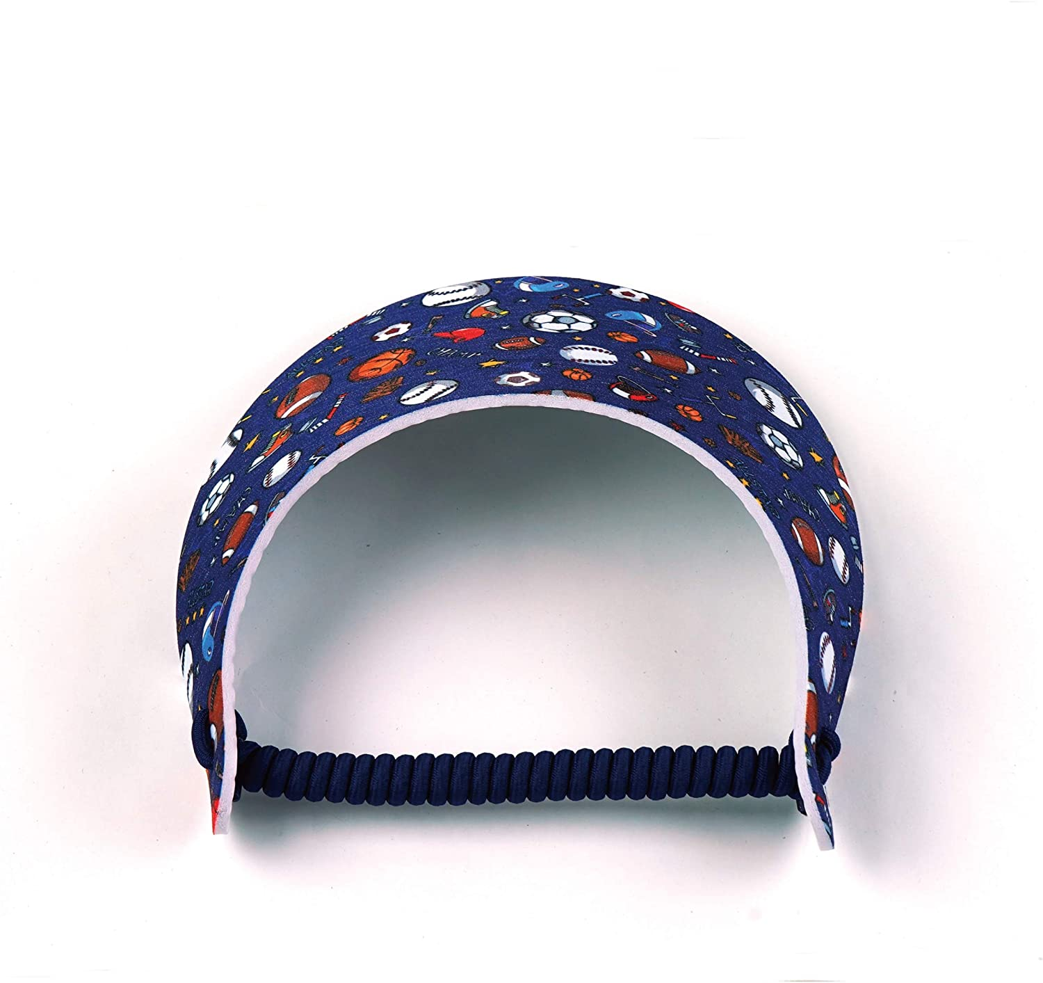 Adjustable to Any Size with No Pressure /& No Headache Sunny Side Roll-up Sun Visor String Hat Perfect for Summer