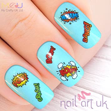 La Demoiselle 3D Glitter Stickers For Nail Art Pack of 8 Variety Designs:  Feather,