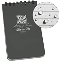 "Rite in the Rain Weatherproof Top Spiral Notebook, 3"" x 5"", Gray Cover, Universal Pattern (No. 835)"