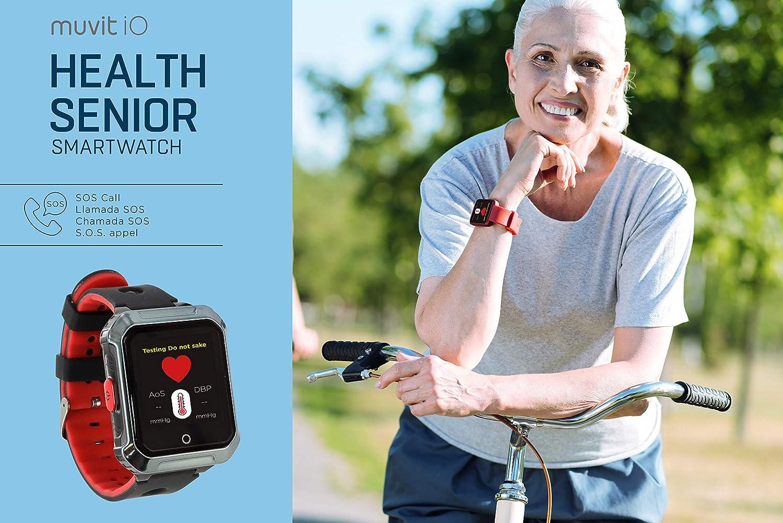 Muvit MIOSMW014 SOS Health Senior Rojo Reloj LOCALIZADOR GPS ...