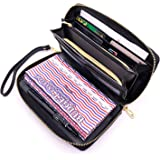 All-in-One Cash Envelopes Wallet Finances Organizer with 12 Budget Envelopes & Budget Sheets, PU Leather Wallet with Zip…