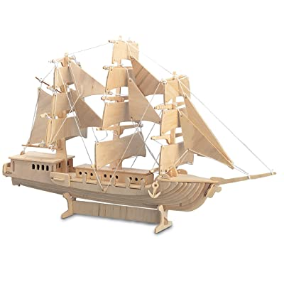Quay Woodcraft Construction Kit Fsc Sailing Ship Wooden Model Game Building Puzzle by: Toys & Games