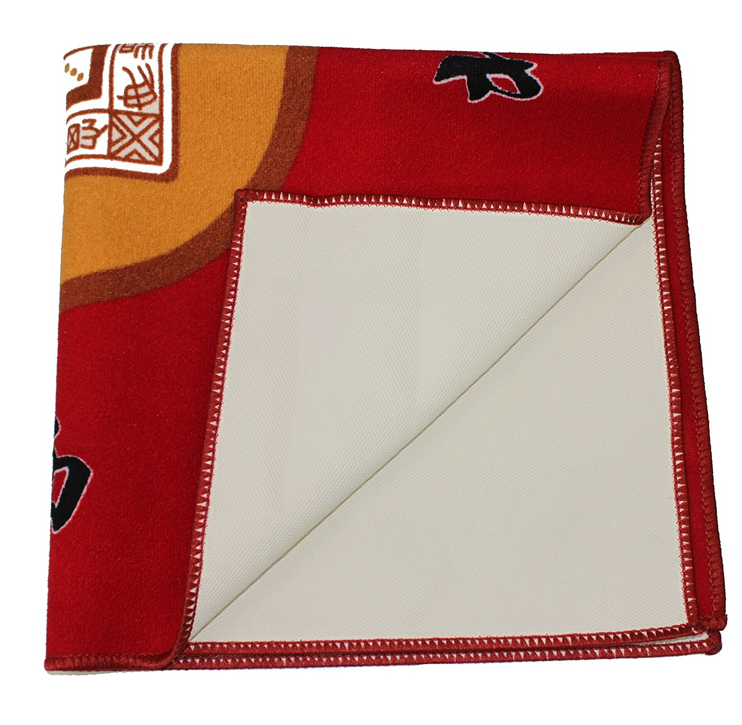 31.5'' Table Cover - Slip Resistant Mahjong Game / Poker / Dominos / Card Tablecover Table Top Mat - Red by We pay your sales tax (Image #3)