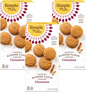 product image for Simple Mills Almond Flour Cinnamon Cookies, Gluten Free and Delicious Crunchy Cookies, Organic Coconut Oil, Good for Snacks, Made with whole foods, 3 Count (Packaging May Vary)