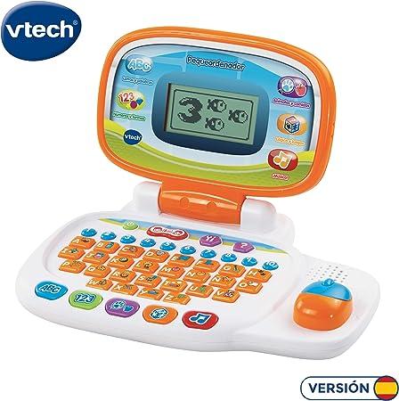 Ordenador portátil infantil con ratón direccional,Teclado abc y números del 1 al 10,Personalizable,
