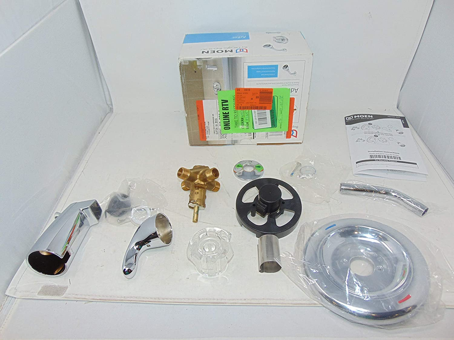 Moen L2353EP Chateau Single Handle Posi-Temp Tub and Shower Faucet ...
