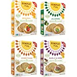 Simple Mills - Sprouted Seed Crackers - ALL Flavors Variety 4 Pack - 4.25 oz each, Gluten Free, Grain Free, Paleo (4 Pack)