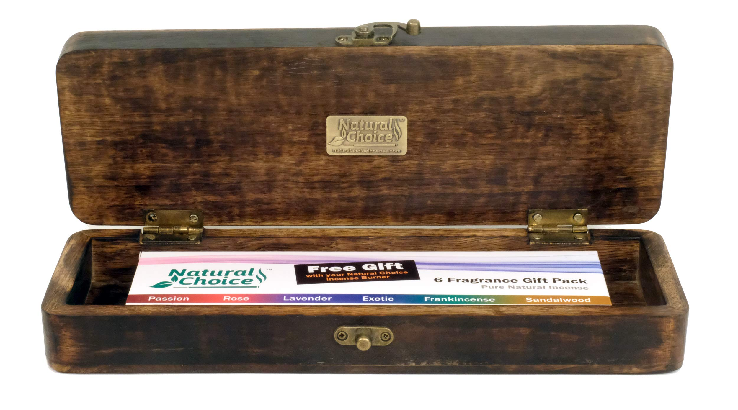 Natural Choice Incense Treasure Chest Incense Storage Box & Ash Catcher (Natural) by Natural Choice Incense (Image #3)