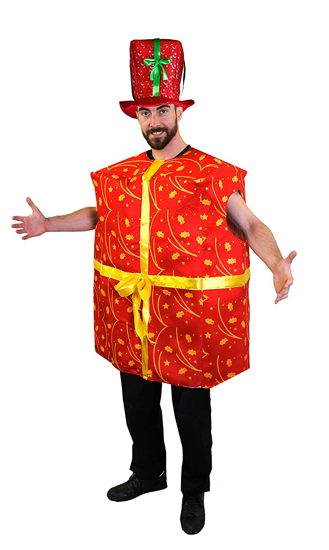 COSTUME + HAT XMAS FANCY DRESS OUTFIT NOVELTY LARGE BOX COSTUME HAT   Amazon.co.uk  Toys   Games 31bbae2179bb
