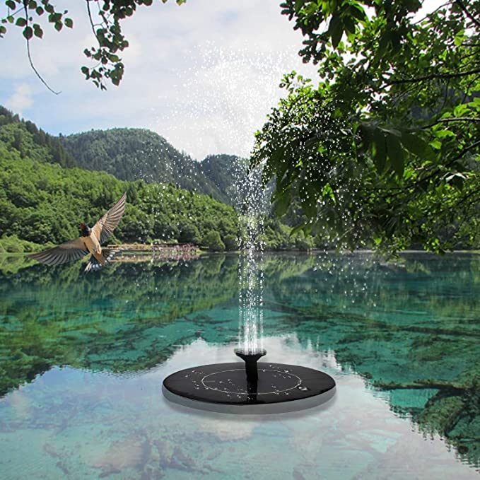 Hanwuo bomba flotante para estanque decoraci/ón de jard/ín Bomba solar para fuente de agua fuente de agua