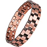 JEROOT TECH Copper Magnetic Therapy Bracelet for Carpal Tunnel and Arthritis Relief