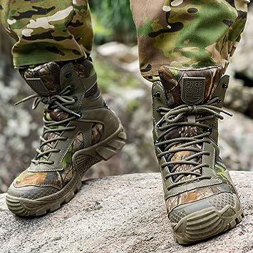 Le Travail FREE SOLDIER Bottes de Chasse pour Hommes Bottes Militaires de Haut-Niveau Bottes Tactiques de Combat Chaussures /à Lacets Tout Terrain Souliers pour La Randonn/ée La Jungle