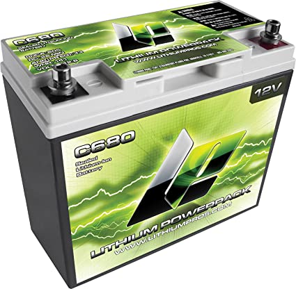 Lithium Ion Car Battery >> Lithium Pros C680 12v Lithium Ion Powerpack Battery With Top Mount Battery Terminal