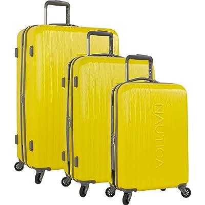 Nautica 3 Piece Hardside 4-Wheeled Spinner Luggage Set