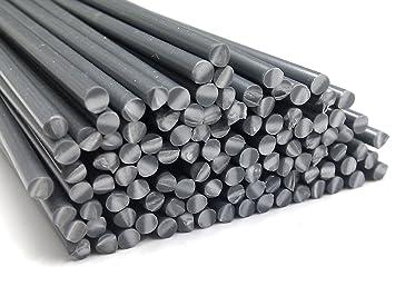 Alambre de soldadura de plástico PVC-U duro 4mm Redondo Gris 25 barra: Amazon.es: Coche y moto