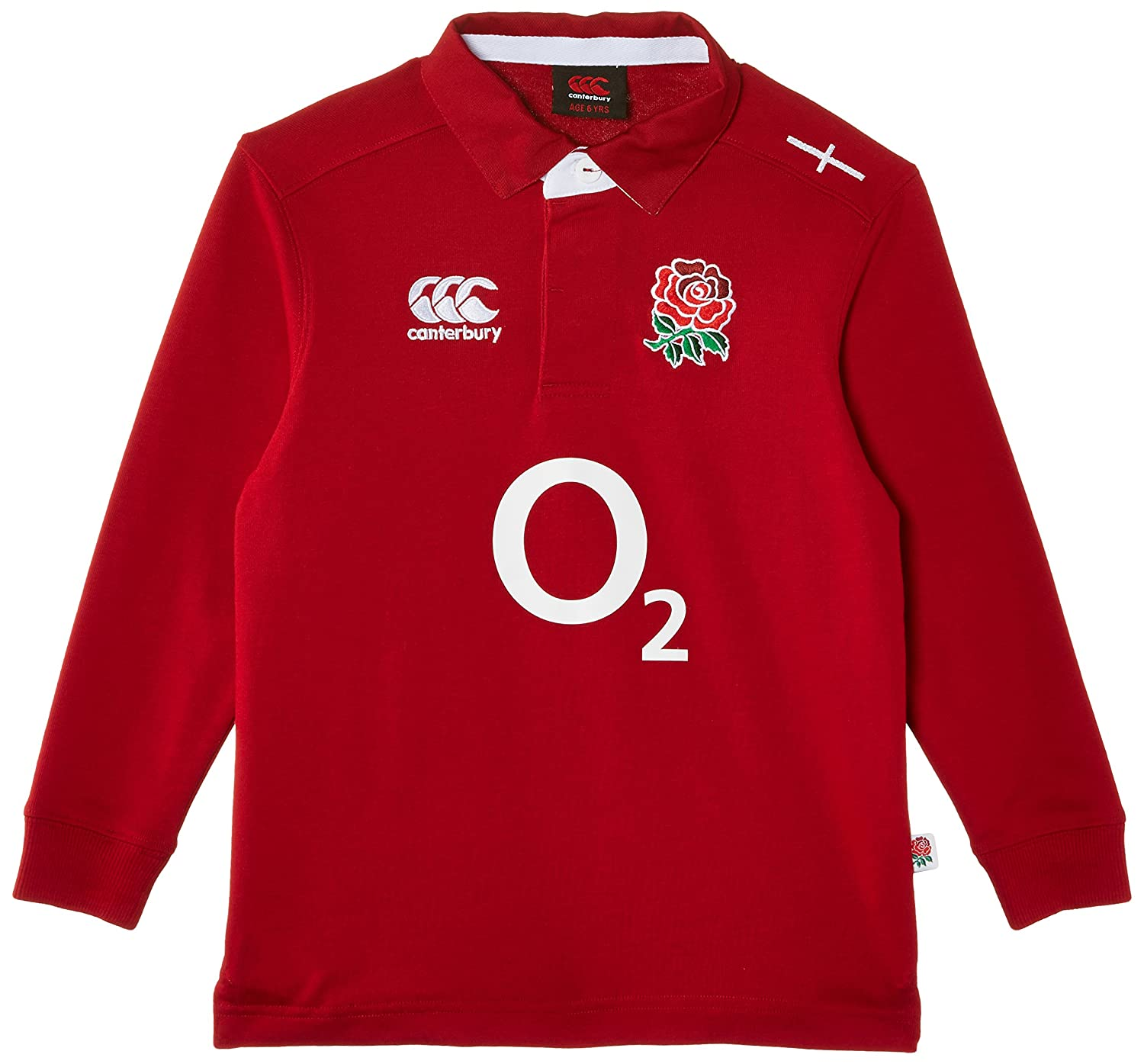 100/% Official RFU Unisex Junior Kids England Rugby Polyester T-Shirt