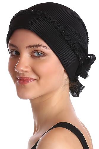 Sombrero del Trenzado y de Perlas Frente para la pérdida del cabello, cáncer