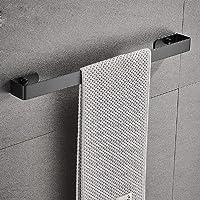 Handdoekenrek, Sikiwind Wandmontage handdoekhouder RVS handdoekhouder Rail Rack 1-Arm Badkamer Handdoekstang 40cm (Zwart…