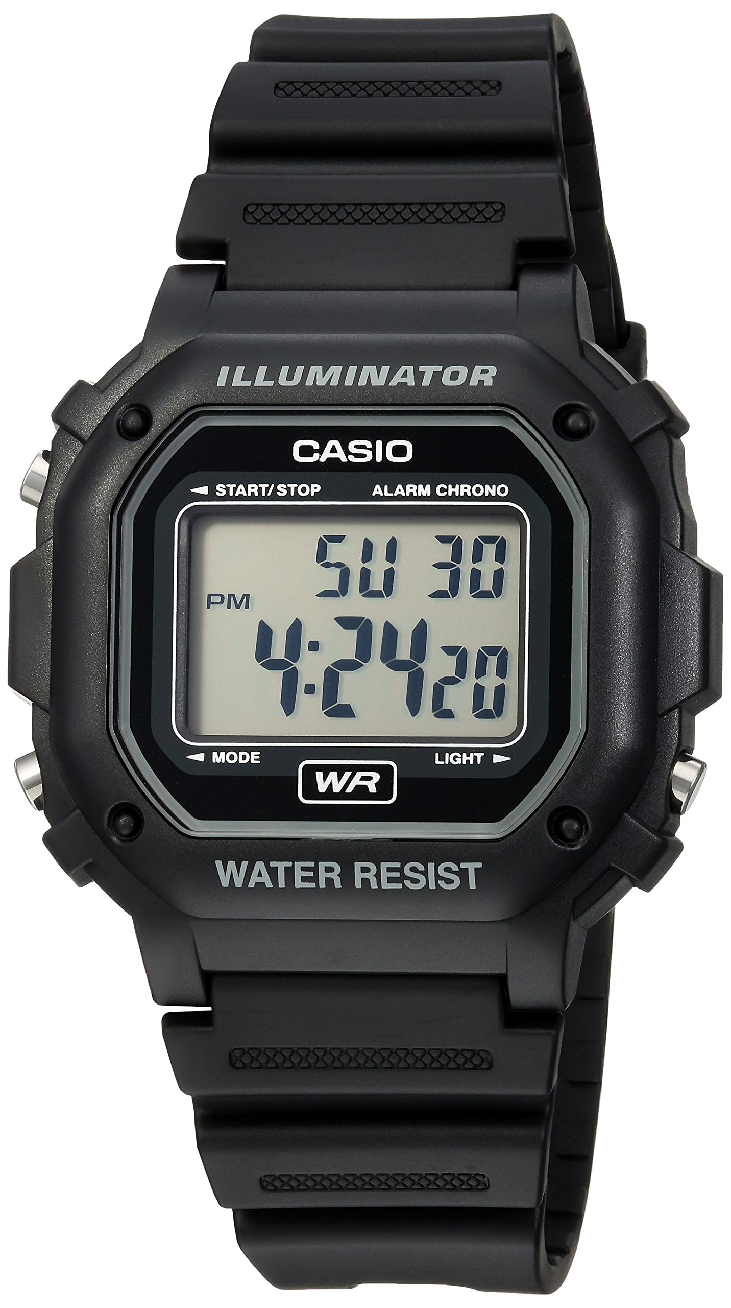 Casio Men's F108WH Illuminator Collection Black Resin Strap Digital Watch by Casio