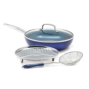 Blue Diamond Pan CC001600-001 Blue Diamond cookware set 4pc