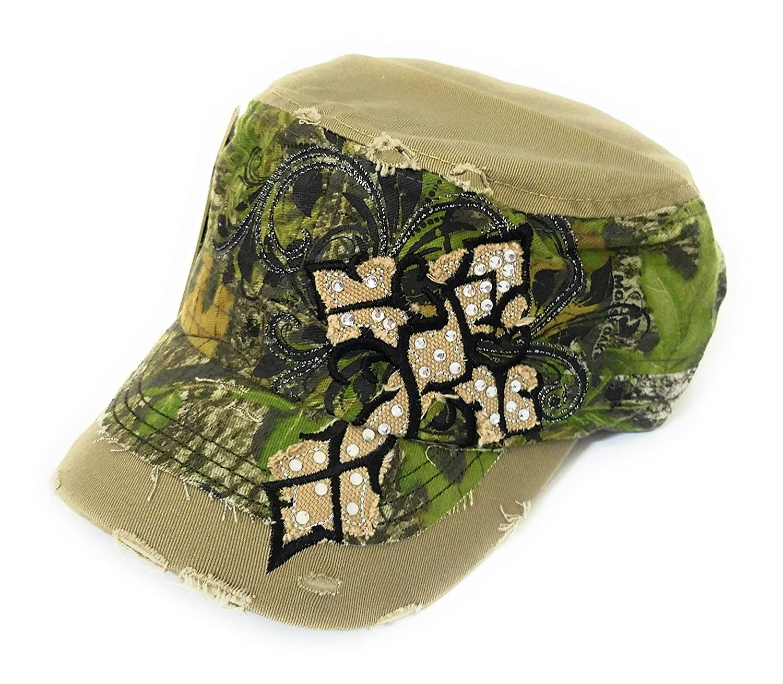 571c91641 Mossy Oak Camo Jp Adjustable Rhinestone Camouflage Hat Cap Green ...