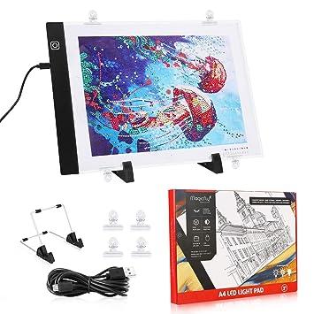 Magicfly - Placa de luz LED para Mesa de Trabajo, tamaño A4 ...