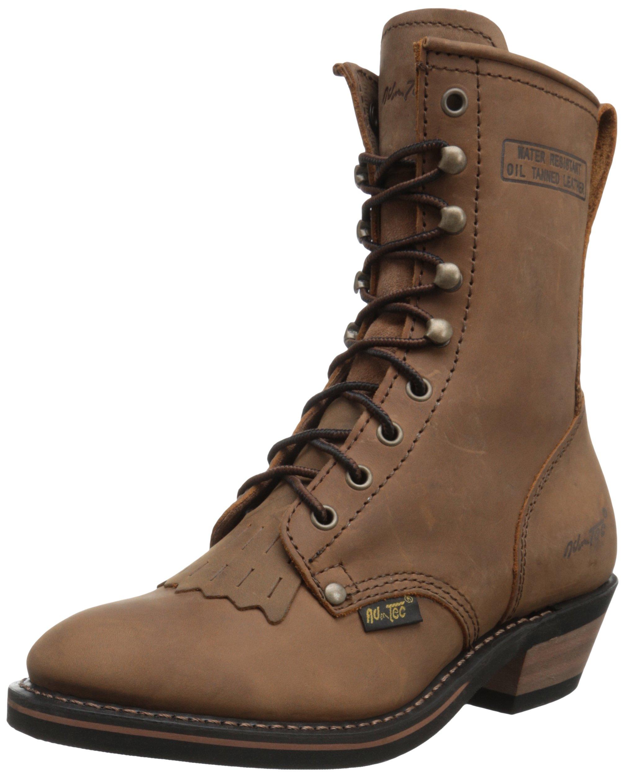 Adtec Women's 8 inch Packer TN Work Boot, Tan, 7.5 M US