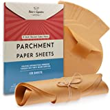 9 Inch Rounds Pack of 120 Parchment Paper Baking Sheets by Baker's Signature | Precut Silicone Coated & Unbleached – Will Not