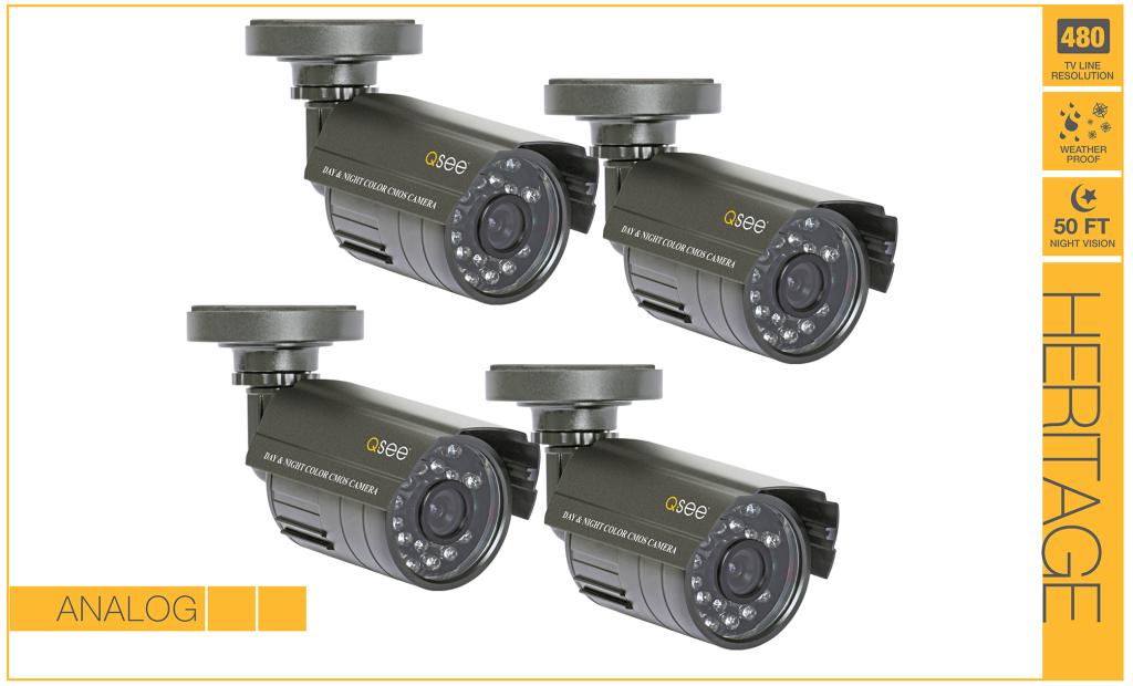 Amazon Com Q See Qm4803b 4 Surveillance System Gray