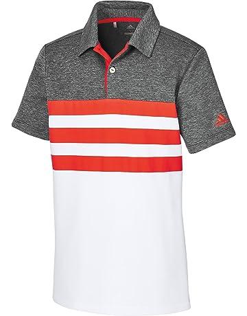 eeb678402fff5 adidas Boys 3 Stripes Fashion Polo de Golf