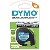 DYMO - DYM16952 Authentic LetraTag Labeling Tape for LetraTag Label Makers, Black Print on Clear pastic Tape, 1/2'' W x 13' L