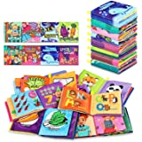 Baby Bath Books,Nontoxic Fabric Soft Baby Cloth Books, Early Education Toys,Waterproof Baby Books for Toddler, Infants Crinkl