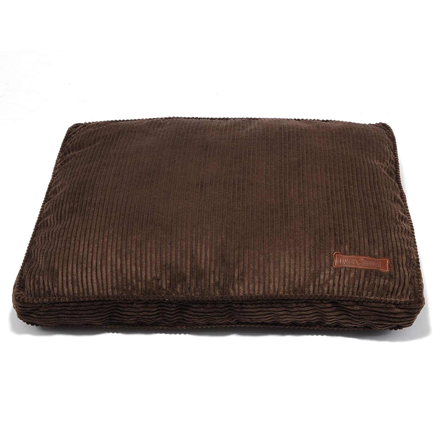 Chocolate Medium 36x28x5\ Chocolate Medium 36x28x5\ Jax and Bones 28 by 36-Inch Corduroy Rectangular Pillow Dog Bed, Medium, Chocolate
