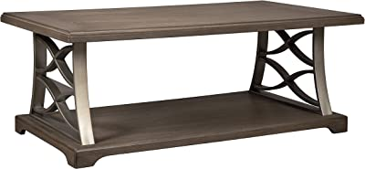 Ashley Furniture Signature Design - Baymore Casual Rectangular Cocktail Table - Grayish Brown