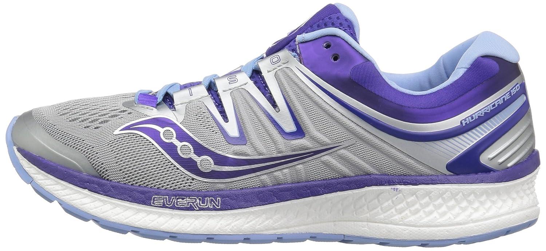 Saucony Women's Hurricane Iso 4 Running Shoe B072JTVW11 10 B(M) US Grey/Purple