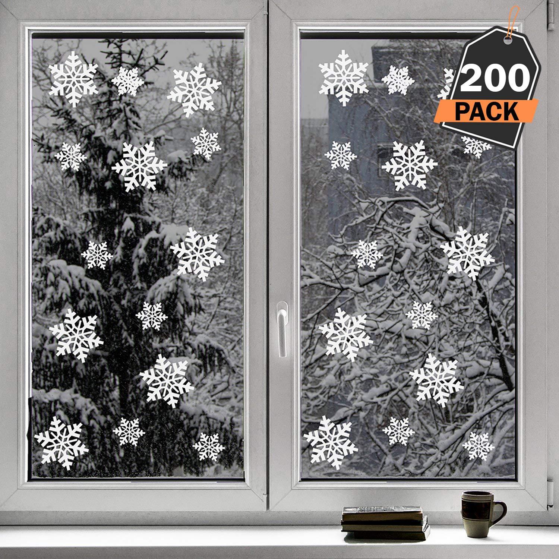 200 Pegatinas Decorativas de Copo de Nieve para Adorno Navideño – Accesorio de Decoración para Navidad – Articulo de Apoyo para Decorado de Festividad ...