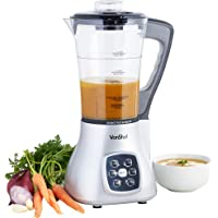 VonShef Multifunctional Soup Maker, Blender & Smoothie Maker, Pulse, Steamer, Boiler 1.7 Litre Jug