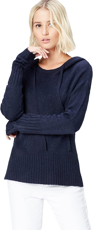 Marca Amazon - find. Jersey de Punto Estilo Sudadera para Mujer