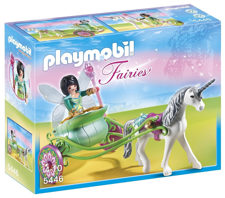 playmobil 5446 figurine fe papillon avec calche et licorne amazonfr jeux et jouets