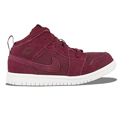outlet store 81296 b225e Image Unavailable. Image not available for. Color  AIR Jordan Retro 1 PRE  School Lifestyle Shoe Burgundy