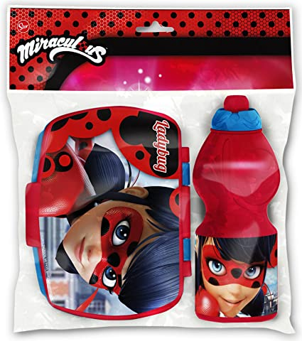 Fiambrera Sandwichera Con Botella 400ml Ladybug