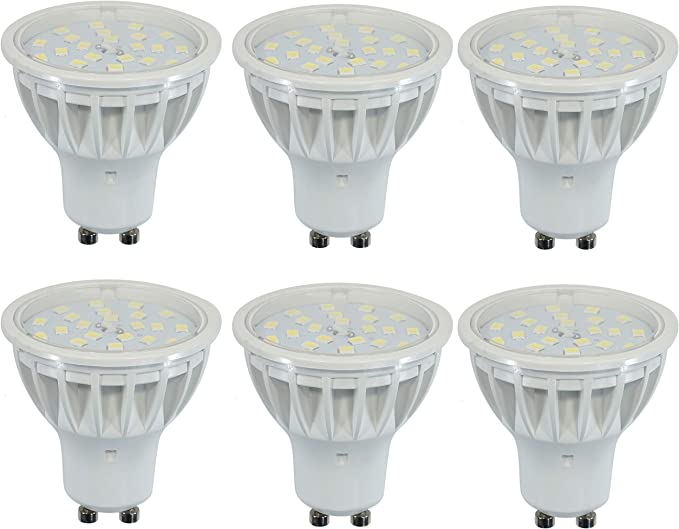 Pack of 6 Led GU10 50W Bulbs Equivalent 5W Daylight Bulbs 560LM Dimmable 120/° Beam Angle Spotlight for Indoor Outdoor Lighting