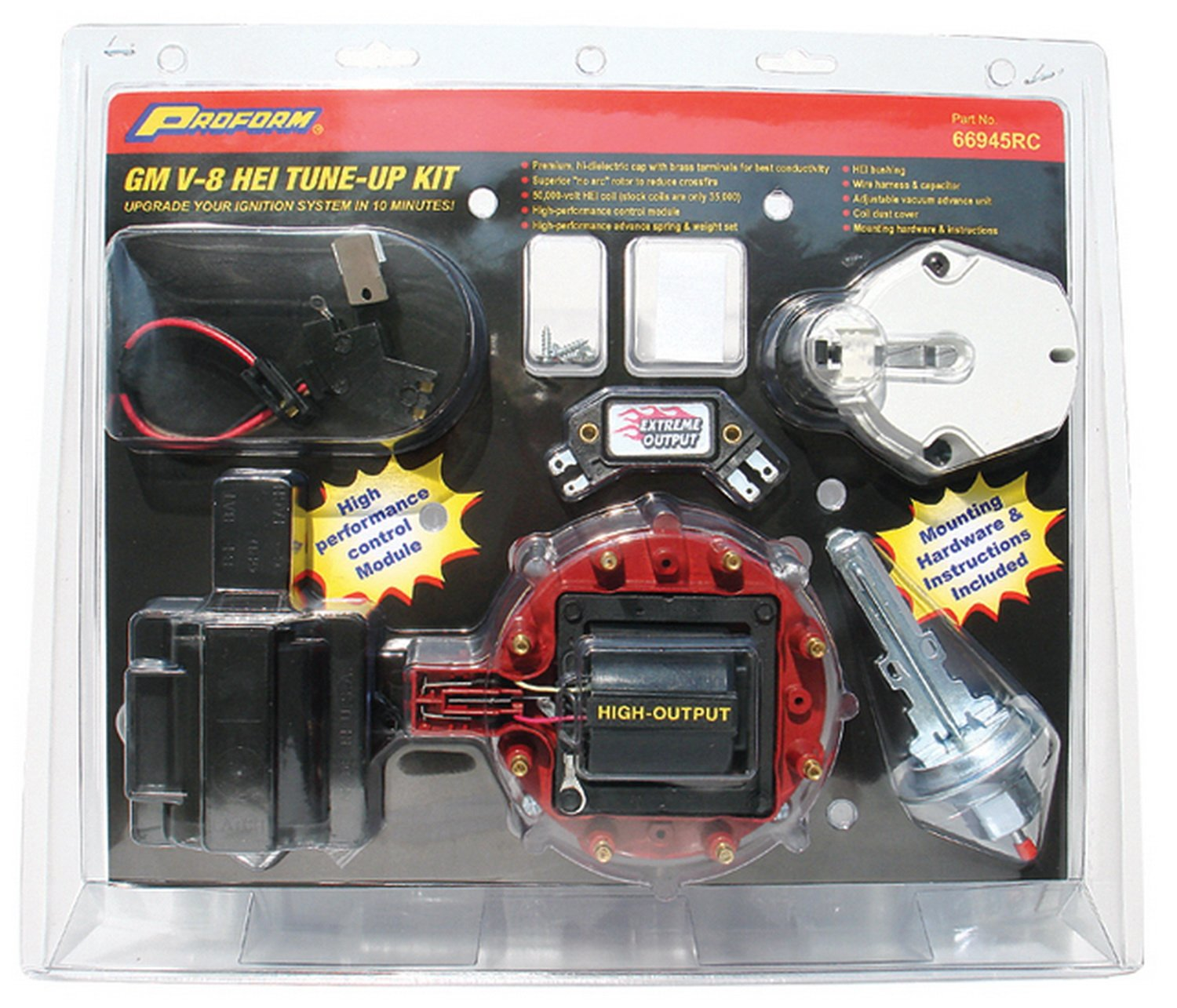 Proform 66945rc Distributor Tune Up Kit Automotive Gm Hei Module Wiring