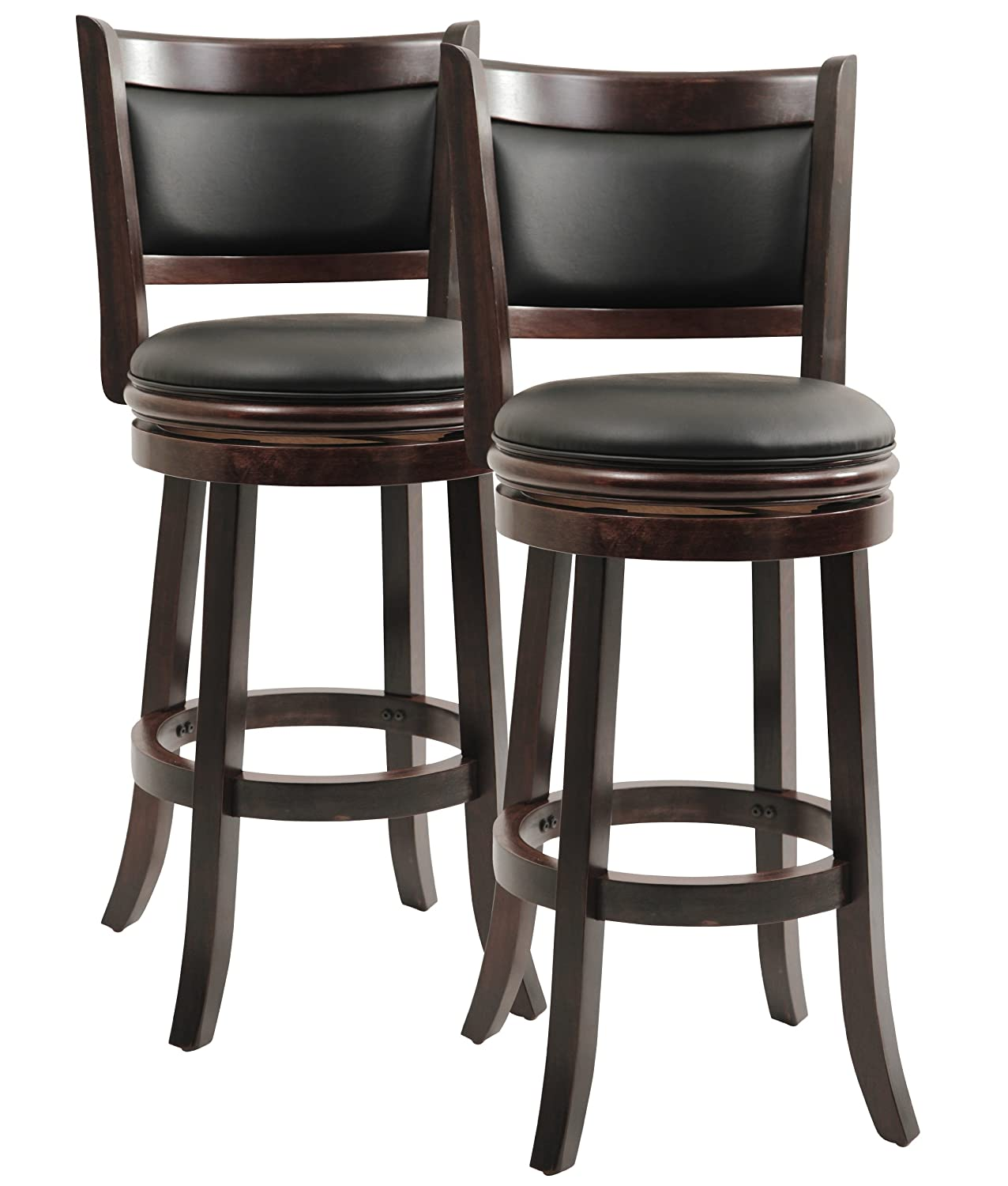 Amazon.com: Boraam 8829 Augusta Bar Height Swivel Stool, 29 Inch,  Cappuccino, 2 Pack: Kitchen U0026 Dining
