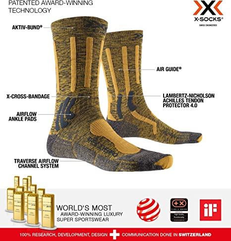X-Socks trekking Mountain calcetines escalar montañas medias wandersocken x020292