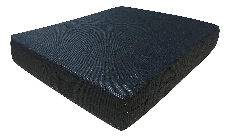 Smokys - Cojín de Espuma viscoelástica para Silla de Ruedas, Asiento de Coche, sofá, sillas de jardín, tamaño 45,7 x 40,6 x 7,6 cm, Funda extraíble ...
